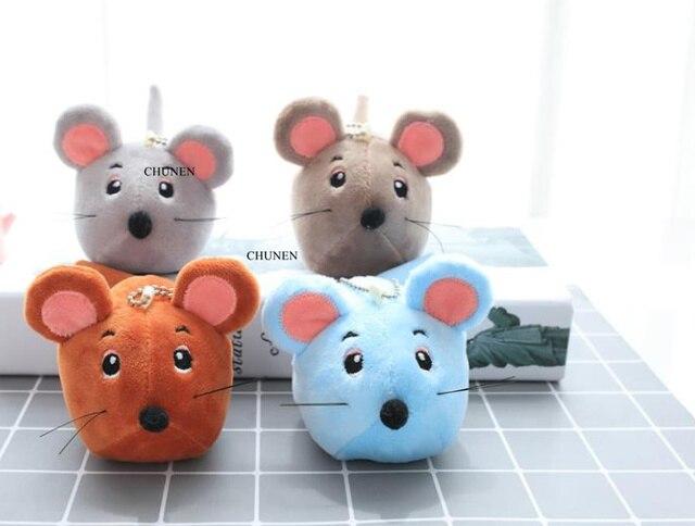Mini Bonito 9 CM Aprox., Adorável Mini Mouse Brinquedos, 4 Cores, Stuffed Animal Plush Toy, Bonecas chaveiro
