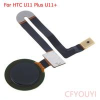 Cor preto Para HTC U11 Plus Scanner de Impressão Digital ID de Toque Botão Página Inicial Voltar Chave Cabo Flex Para HTC U11 +