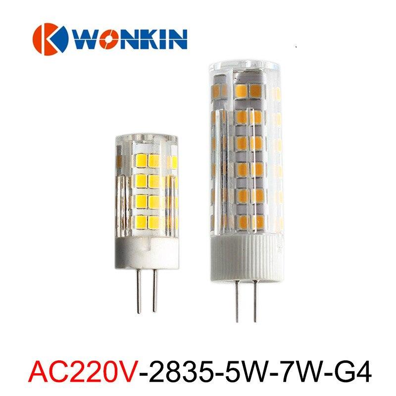 10pcs g4 led lamp SMD2835 Corn bulb 220V Mini bulbs PC Cover LED Spotlight for Chandelier Pendant Light Replace Halogen