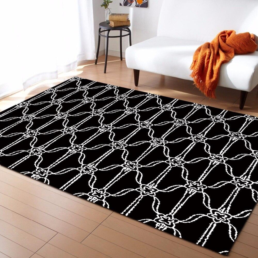 Style européen Plaid géométrie flanelle velours mousse à mémoire de forme plus grand tapis de jeu tapis de jeu
