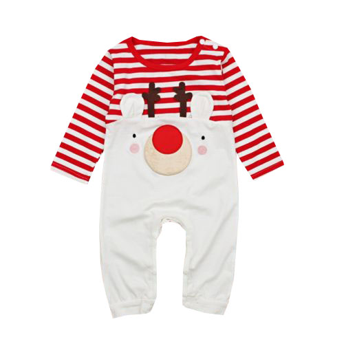 Infant Toddler Baby Girl Boy Christmas Elk Jumpsuit Long Sleeve Striped Bodysuit Playsuit Clothing Set n2o y9114 6x14 5x100 d57 1 et37 sfp