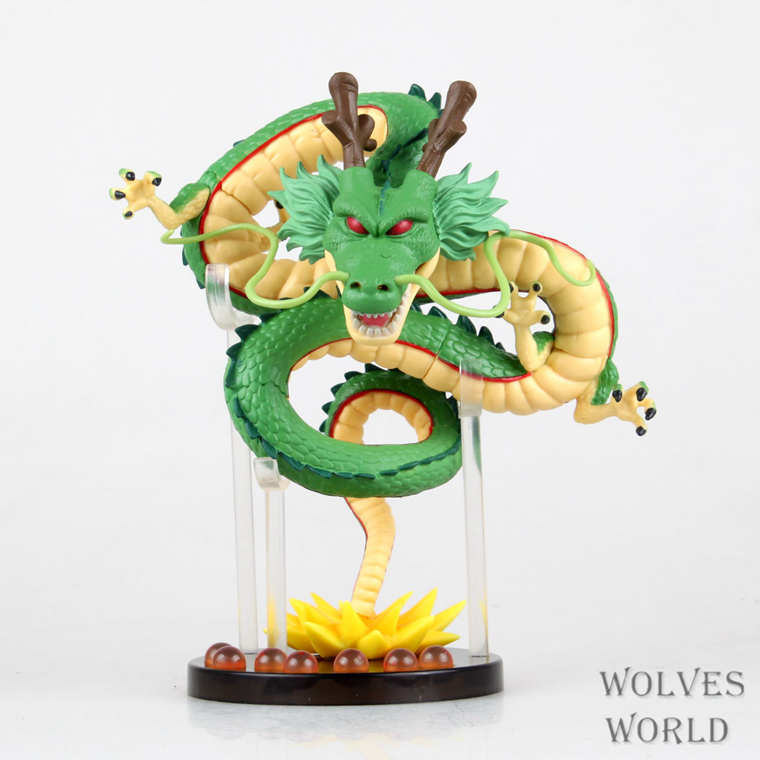 SANITGI Dragon Ball Z Shenron Shenlong Gold/Green Action Figures Collectible Toy Son Goku   Anime Pvc 16CM Model Kids Gift j g chen anime cartoon dragon ball z shenron shenlong gold pvc action figure collectible model toy free shipping