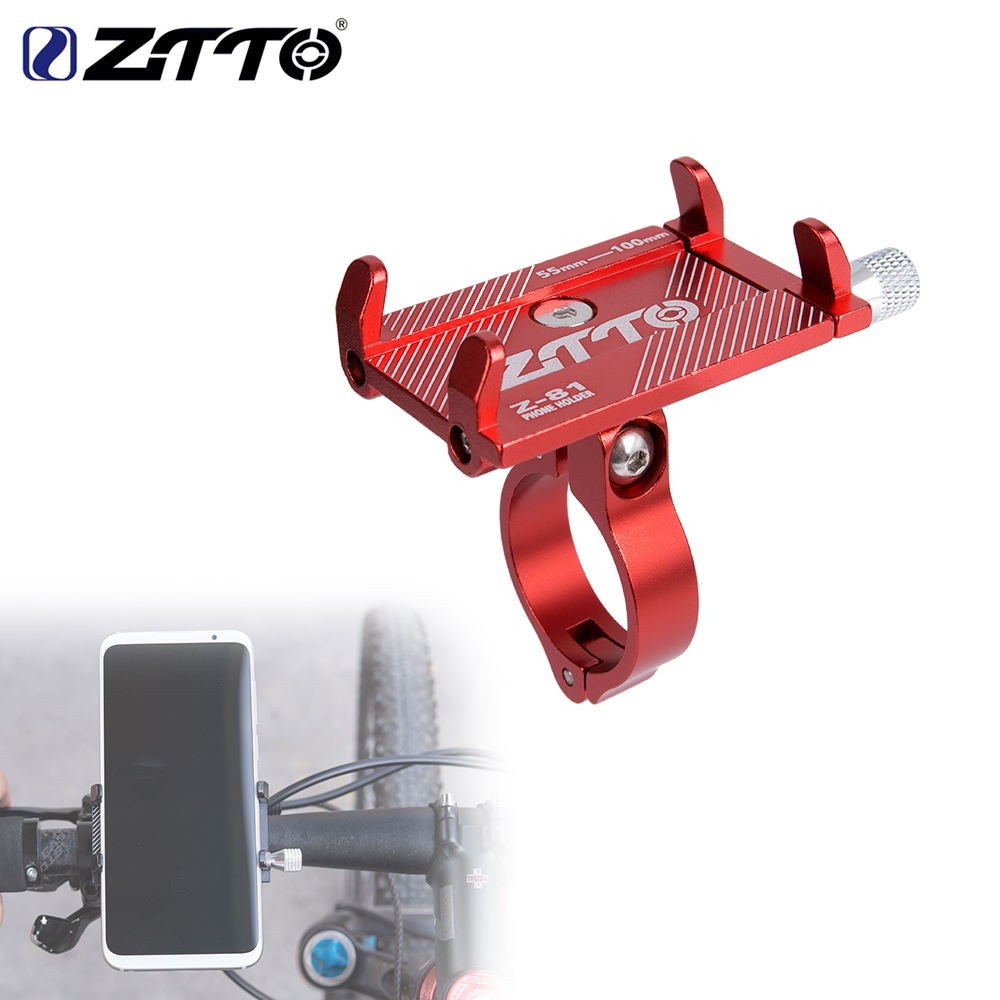 ZTTO Bicycle Phone Holder Motorcycle Reliable Universal Adjustable Mobile Phone Aluminum Holder Mount on MTB Road bike Handlebar gub plus 6 aluminium alloy mobile phone holder stands handlebar for bicycle motorcycle mtb road bike gps phone holder