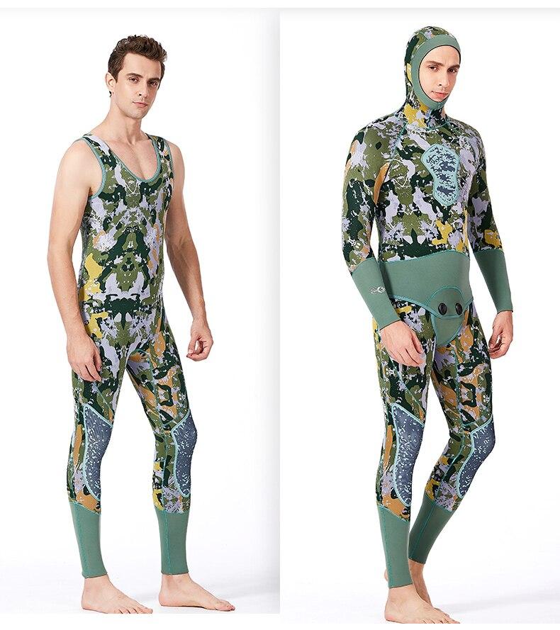 SCR néoprène femmes hommes 3mm combinaison camo apnée sous-marine plongée sous-marine plongée sous-marine maillot de bain Super élastique surf longue combinaison