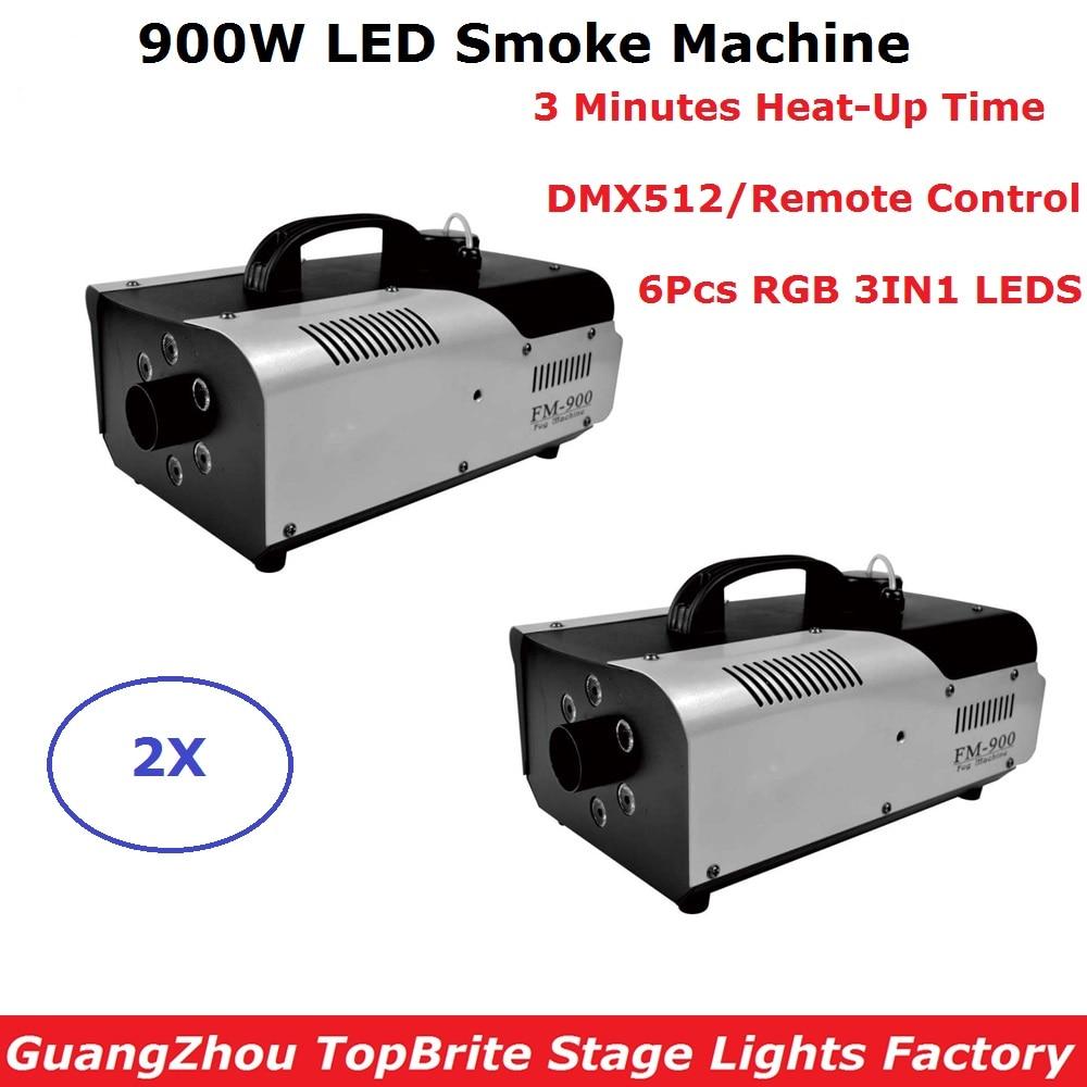 Mini 900W LED RGB Full Color Fog Machine Stage Lighting Equipments Smoke Machines 110-220V Perfect For Party Wedding Christmas