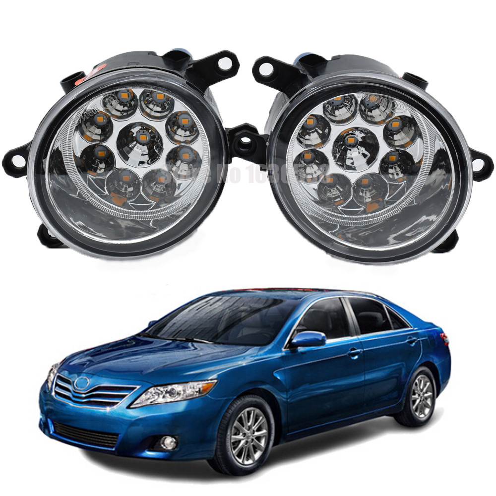 2pc For Toyota <font><b>Camry</b></font> 2006-2012 H8 H11 Right + Left Fog Light Car LED Light Daytime Running Light DRL White yellow image