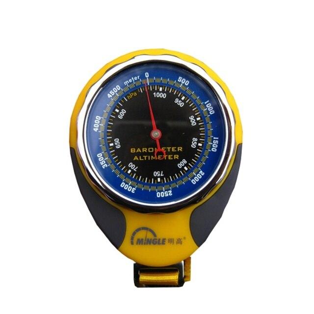 ميزان حرارة لقياس الارتفاع في الجبال الخارجية مقياس حرارة بوصلة بارومتر ميزان حرارة ميكانيكي حلقة تسلق بأربعة في واحد