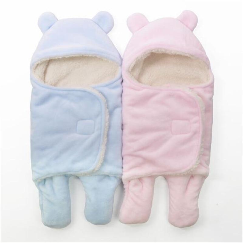 Newborn Baby Wrap Swaddle Blanket Warm Lamb Swaddling Blanket Baby Split Sleeping Bag Baby Envelope Baby Blanket Swaddle