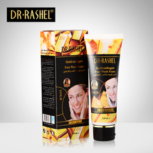 2 pcs Face Cleanser Gold Collagen Face Wash Foam Remove Acne Whitening Moisturizing Facial Cleaning