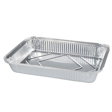 10PCS 800ML Disposable BBQ Aluminum Foil fast food packing baked Without Cover box bowl Replacement Liner Tray baked lunch tin