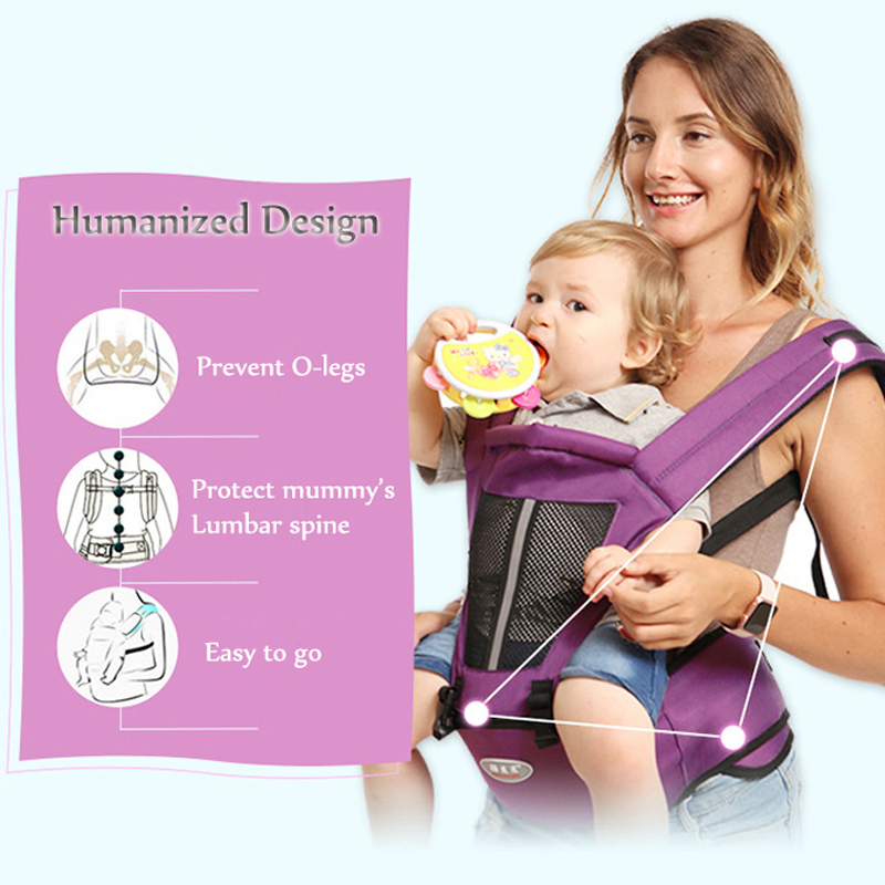 Healthy Hipseat For Newborn And Prevent O-type Legs 6 In 1 Carry Style Loading Bar 20Kg Ergonomic Baby Carriers Kid Sling