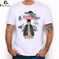 Hepeep 2017 Novos onze coisas estranhas design T camisa de manga curta dos homens de Alta Qualidade Da Novidade legal tops tees hipster