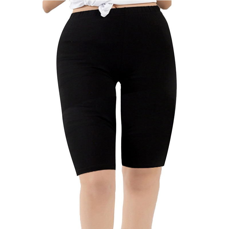 Women's Modal Short Leggings Basic Breathable Leggings Smooth High Elasticity Plus Size Knee Length GYM Pants Leggings For Women