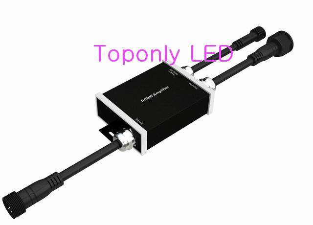 ФОТО DC12-24v 180w 4-in-1 rgbw waterproof signal amplifier work with RGBW led controller CE&ROHS 20pcs/lot DHL free shipping