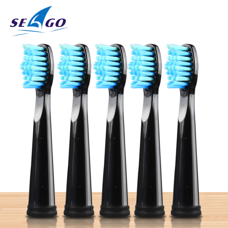 5pcs/lot Original Electric Toothbrush Head for SG507/E4/SG515/SG958 Soft Bristles Replaceable Brush Heads Deeply Cleaning BLACK image
