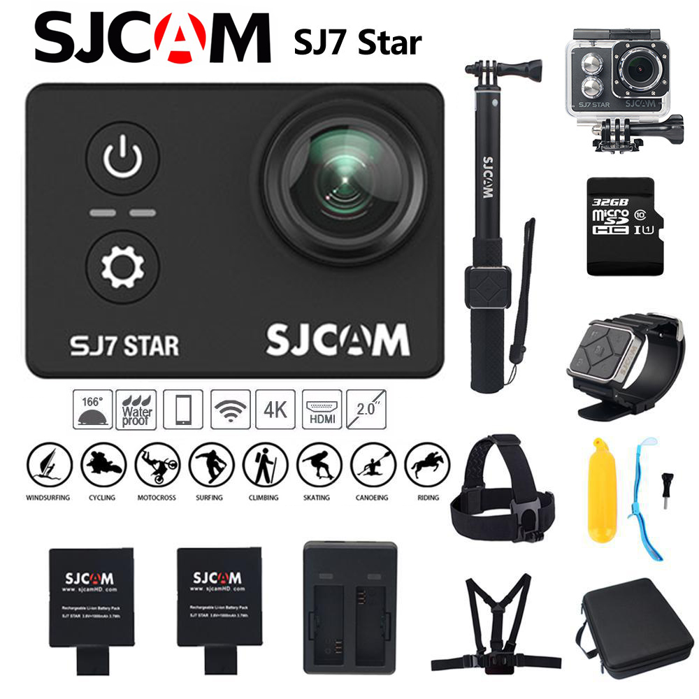 SJCAM SJ7 Star Action Camera Wifi 4K Sport Mini Camera Touch Screen 30M Waterproof For Diving Bicycle Extreme Sport Camera