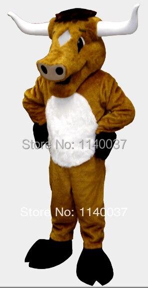 Lungo corno di toro bestiame mascotte costume di fantasia personalizzata costume anime cosplay mascotte tema fancy dress costume di carnevale