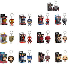 pop Avengers Captain America Iron Man Groot The Flash Keychain Accessories Pendant Trinket Keyring Souvenirs Gift