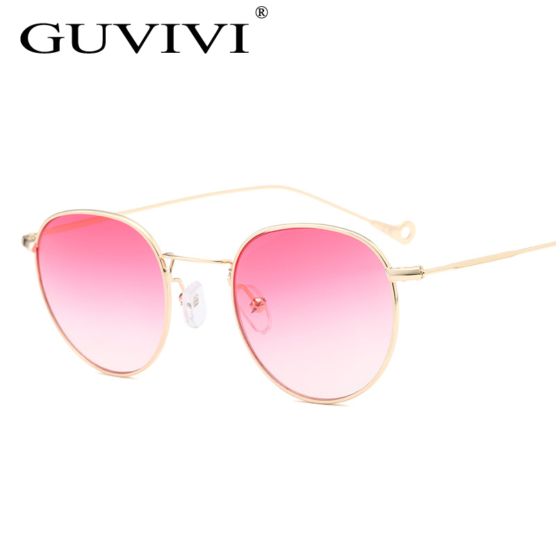 ba9efd821456 Blue tinted Gradient Sunglasses men Green thin metal yellow clear sun  glasses for women gold frame UV400 Sun glasses for men