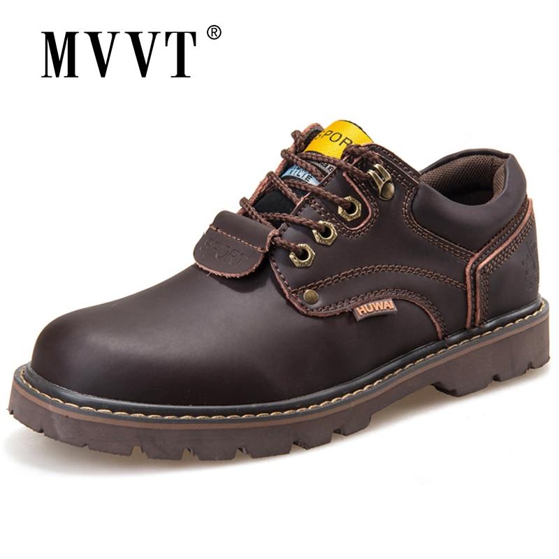 Classic Split Leather Men Boots Ankle Work Boots Men Nubuck Leather Men Winter Snow Boots Autumn Tooling shoes botas hombre