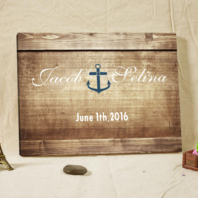 Customized signature guestbook wood framed anchor fingerprint tree customized signature guestbook wood framed anchor fingerprint tree wedding guest book alternative rustic wedding accessories junglespirit Choice Image