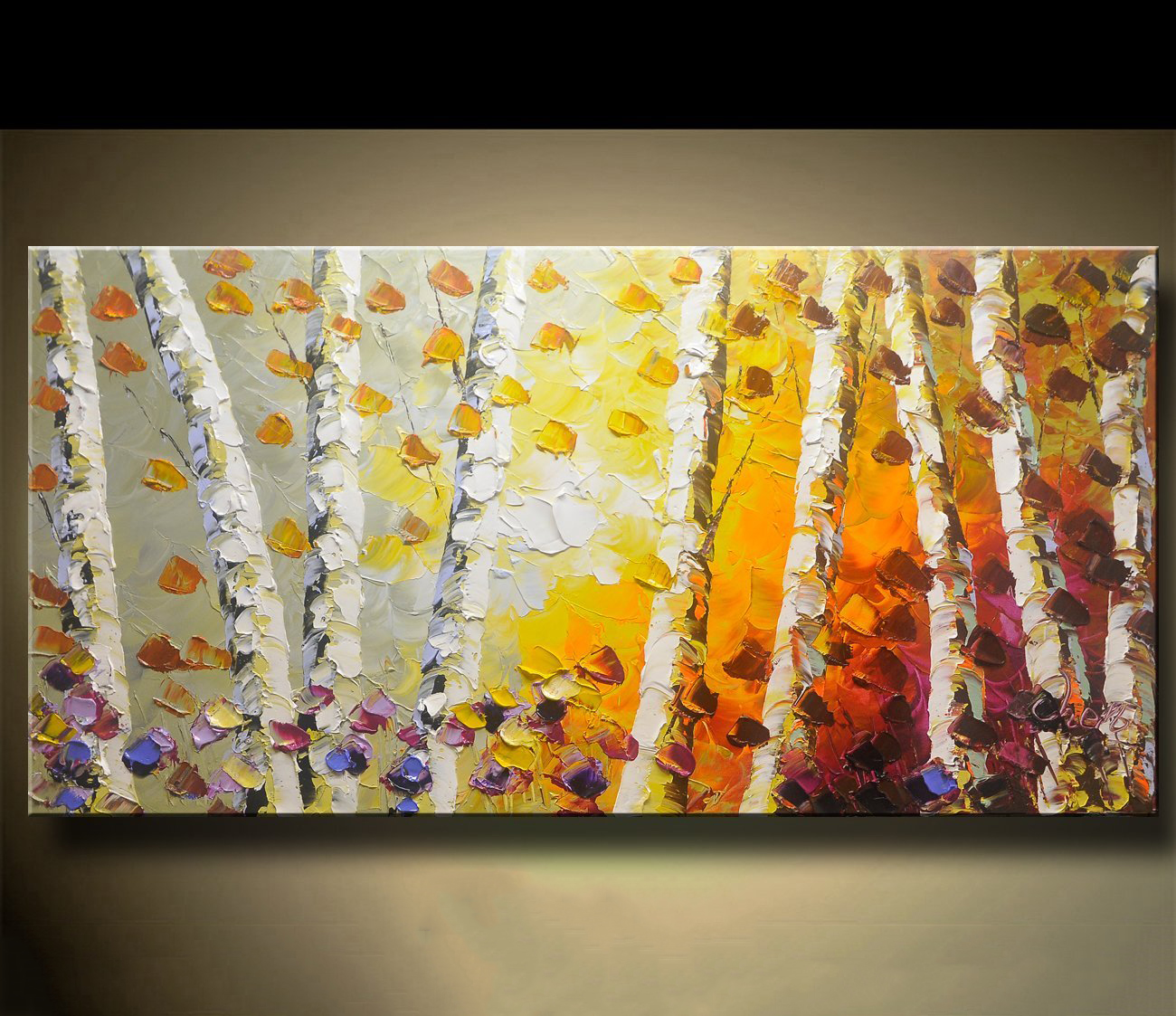 Chen Art Abstract acrylic Paintings on Canvas Modern Canvas Wall Art ...