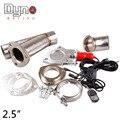 """DYNO-2.5 """"Inoxidável Elétrica Recorte Vermelho interruptor com controle Remoto Dump Válvula de Escape Recorte"""
