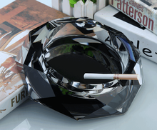 High Quality Durable Crystal Cigar Ashtray Creative Fashion European octagonal Ash Tray Cigarettes Smoking Accessories LFB415