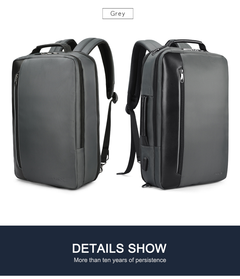 15.dark grey laptop backpack