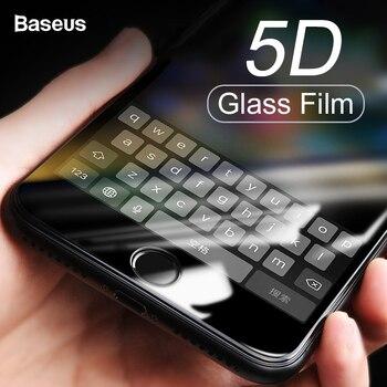 Baseus 0,3 MM Screen Protector Gehärtetem Glas Für iPhone 8 7 Plus 5D Gebogene Volle Abdeckung Schutzhülle Gehärtetem Glas Film