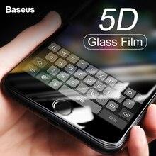 Baseus 0,3 мм экран протектор Закаленное стекло для iPhone 8 7 Plus 5D изогнутые полное покрытие защитный закаленное стекло плёнки