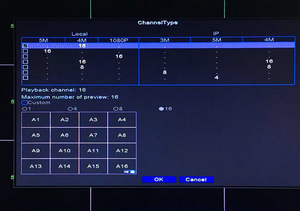 Image 5 - Face Detection XMeye Hi3531D H265+ 5MP 16CH 16 Channel 6 in 1 Hybrid WIFI TVi CVI NVR AHD CCTV DVR Surveillance Video Recoder