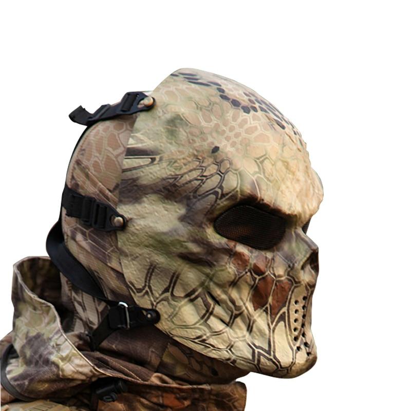 Тайфун камуфляж аксессуары для охоты маски призрак тактический Открытый военный Wargame Пейнтбол полная маска для лица