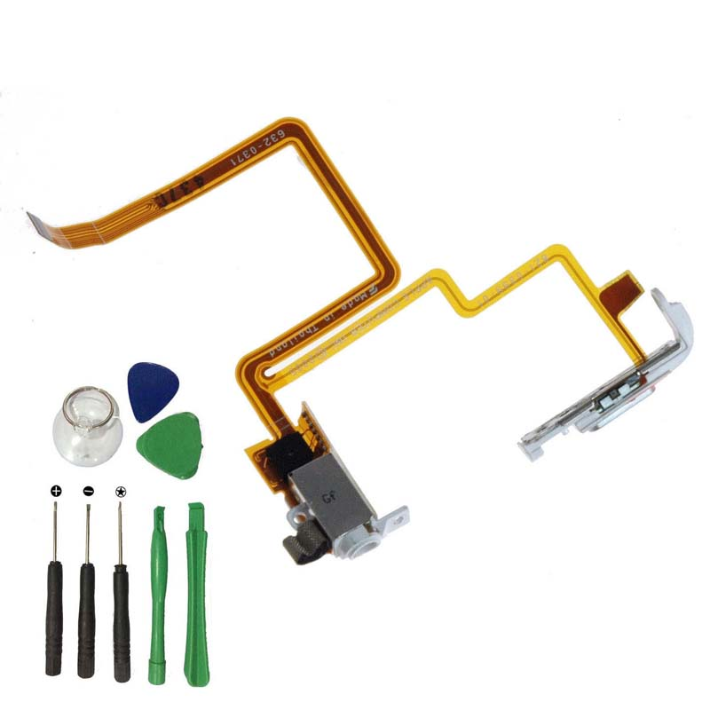 Running Camel White Headphone Audio Jack Hold Switch Flex Ribbon Cable For iPod 5th gen Video 30gb(China)