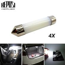 цена на 4x Festoon LED Dome 31mm 36mm 39mm 41mm C5W C10W 212-2 6418 White Interior Reading License Plate Lamp Led Light Car Styling Bulb