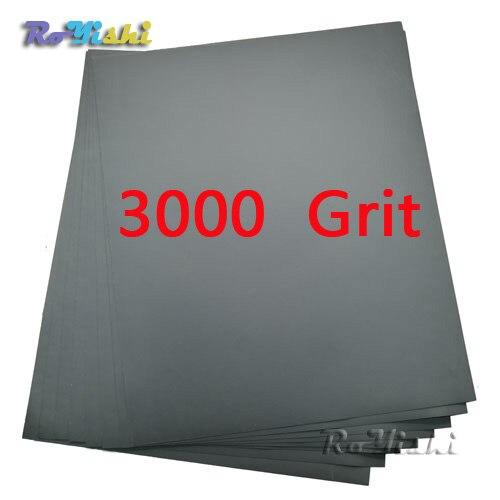 100 feuilles/pack 3000 grit Humide et Sec Papier de Verre Abrasif Imperméable À L'eau des Feuilles De Papier