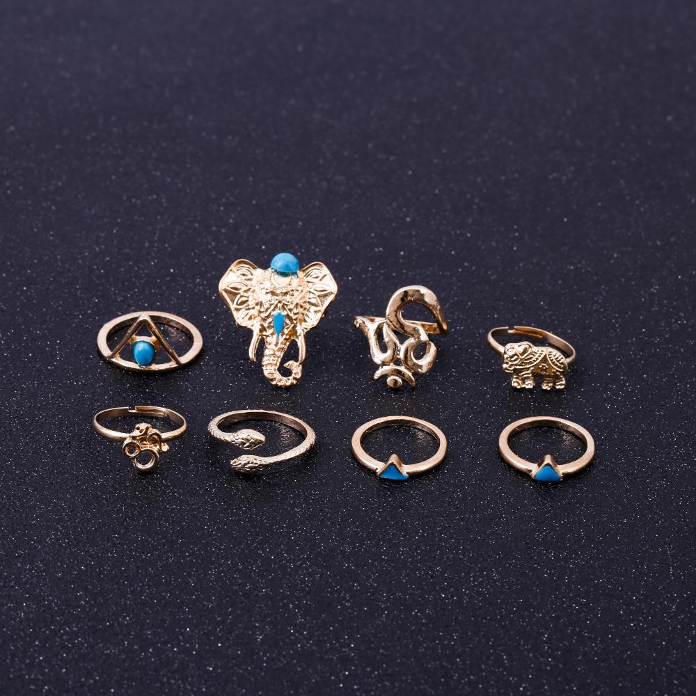 HTB1Z2qRRVXXXXawXVXXq6xXFXXXp Fashionable 8-Pieces Boho Retro Spirituality Symbols Stackable Midi Ring Set