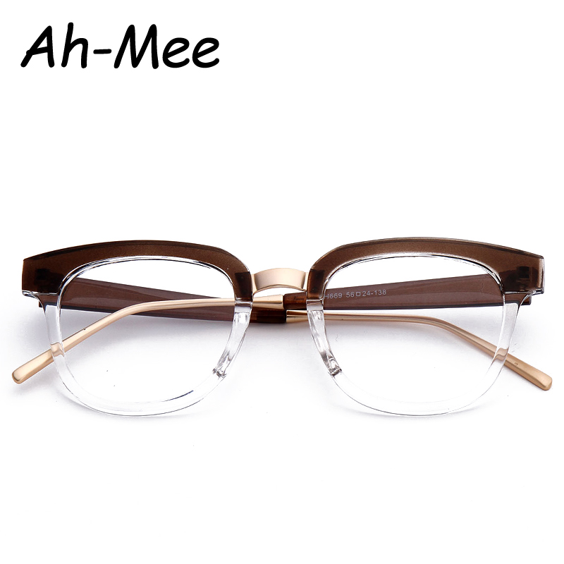 Women Eyewear Frames Men Fashion Brand Designer Eyeglasses Frame Plain Optical Glasses Vintage Unisex Nerd Glasses
