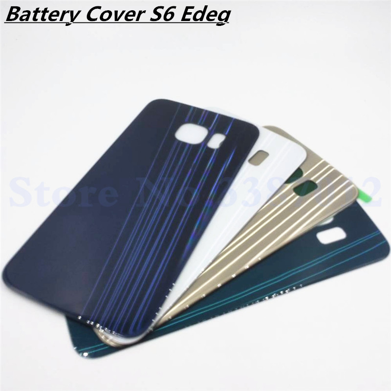 Vecmnoday Replacement For Samsung Galaxy S6 Edge G925 G925F G925H Back Battery Cover Door Rear Glass Housing Case Battery Cover