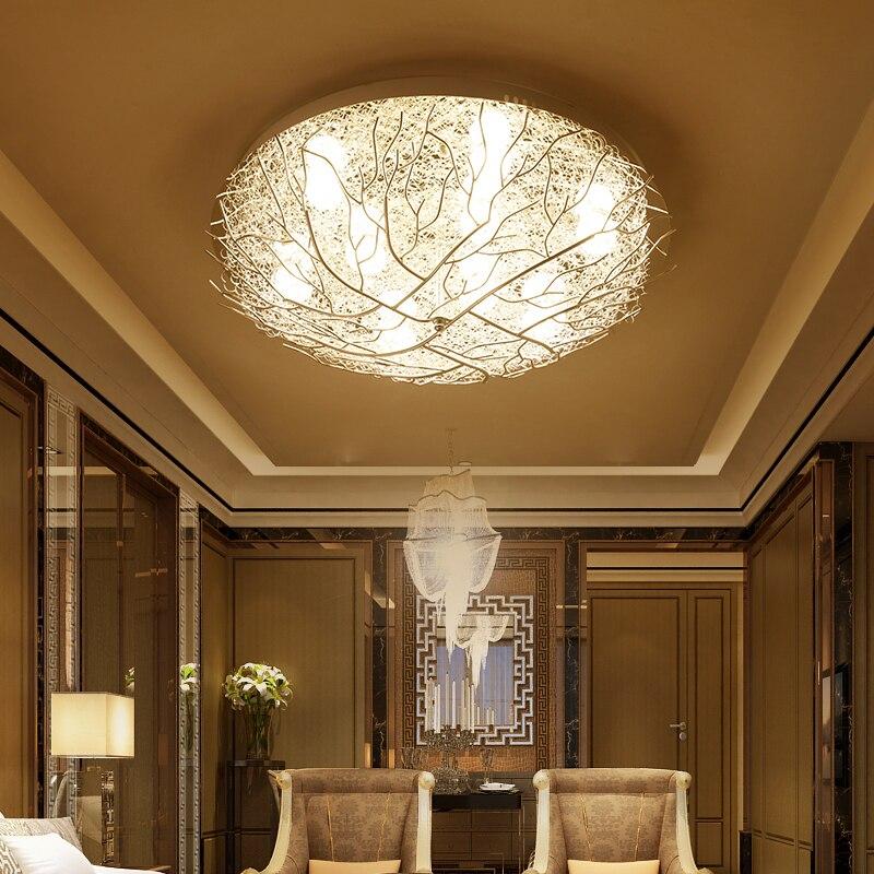 Moderne Plafond Lumières LED éclairage accueil calendrier salon lampes Oiseau nid de luminaires enfants chambre Plafond éclairage