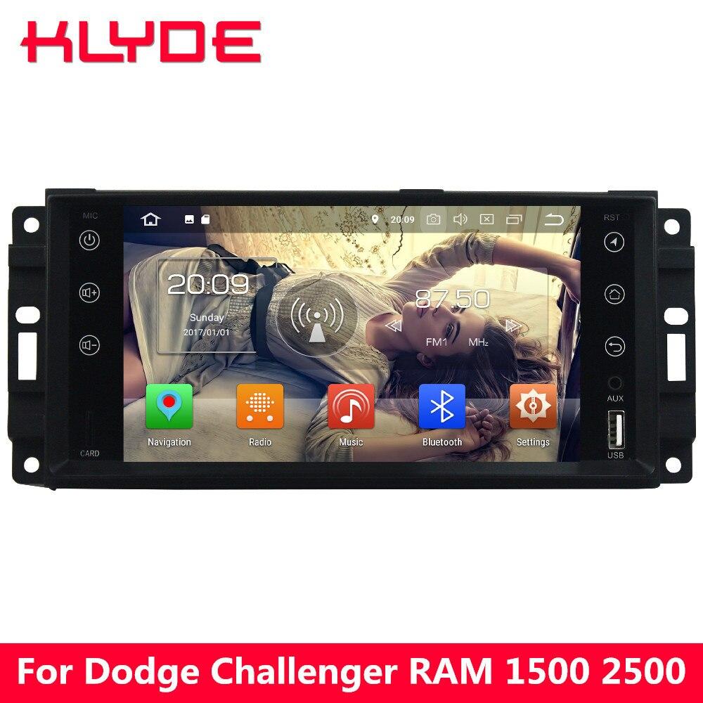 KLYDE 4G Android 8 7.1 Octa Core 4GB RAM+32GB Car DVD Player Radio For Dodge RAM 1500 2500 3500 Challenger Pickup Caliber Dakota bruder пикап ram 2500