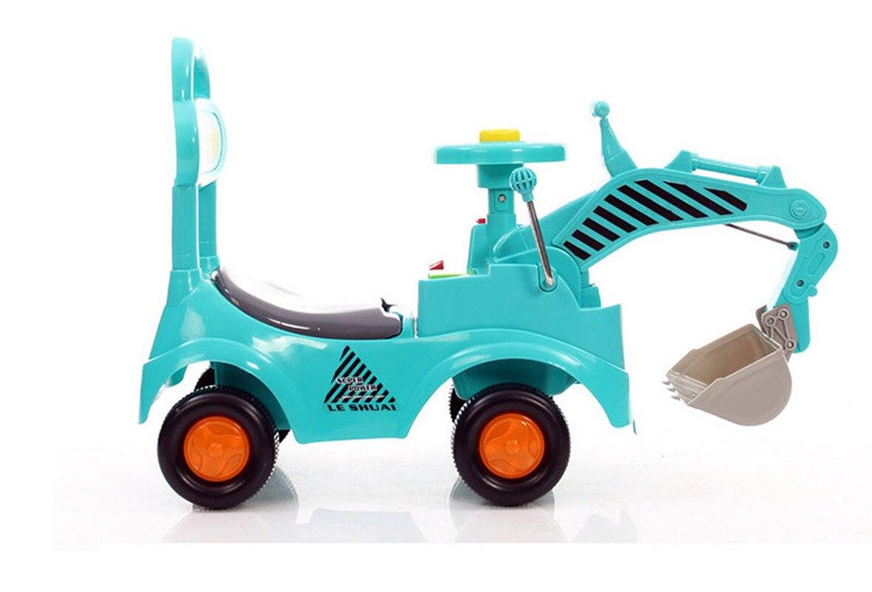 Детский экскаватор, детский экскаватор каталка, игрушки для детей, четыре колеса, пластиковые игрушки для катания на автомобиле, строительн... - 6
