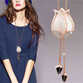 Fashion Long necklace for women Tulip flower necklace pendants luxury costume necklace women jewelry Gifts
