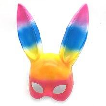 Сексуальная маска с заячьими ушками, милые длинные уши кролика, маска для связывания на Хэллоуин, маскарад, вечеринку, косплей, костюм, реквизит