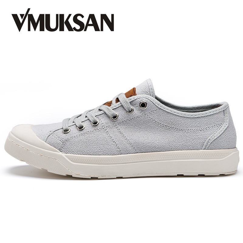 VMUKSAN Men s Shoes 2017 Autumn Casual Canvas Shoes For Man Lace Up Solid Breathable Casual