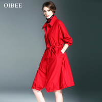 2017 Women Cardigans Casual Spring Autumn Turn down Collar Long Trench Ladies Pleated Pocket Design Outwear Coat