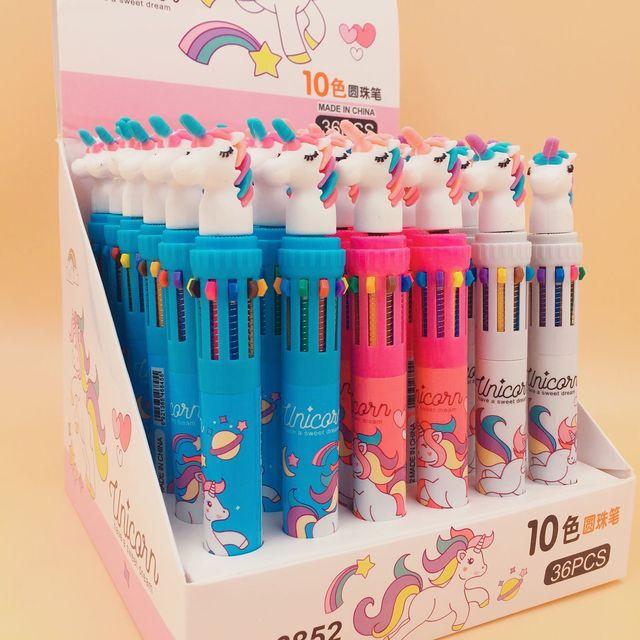 Bolígrafo multicolor con cabeza de unicornio 2