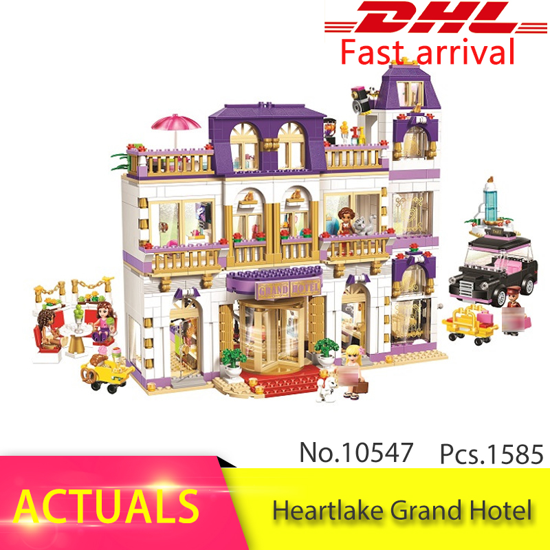 LEPIN 41101 Compatible With 10547 Friends Heartlake Grand Hotel Girl Building Blocks Brick 01045 Toys For Children Friend lepin 01045 1676pcs girls series heartlake grand hotel set children eucational building blocks bricks toys model gift 41101