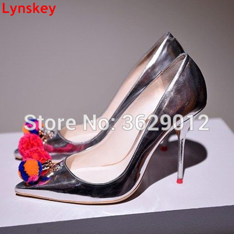Lynskey Spring Autumn Women Pumps Sexy Silver High Heels Shoes Fashion Pointed Toe Wedding Shoes Party Women Shoes siketu free shipping spring and autumn new women shoes fashion sexy high heels shoes wedding shoes pumps g409 18cm sandals
