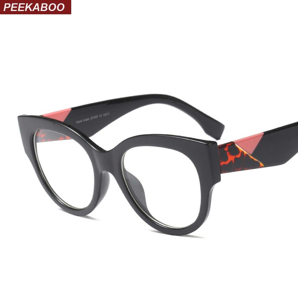 ba9007618170 Peekaboo black cat eye eyeglass frame eyewear optical 2019 hot selling  oversized glasses frame female gift